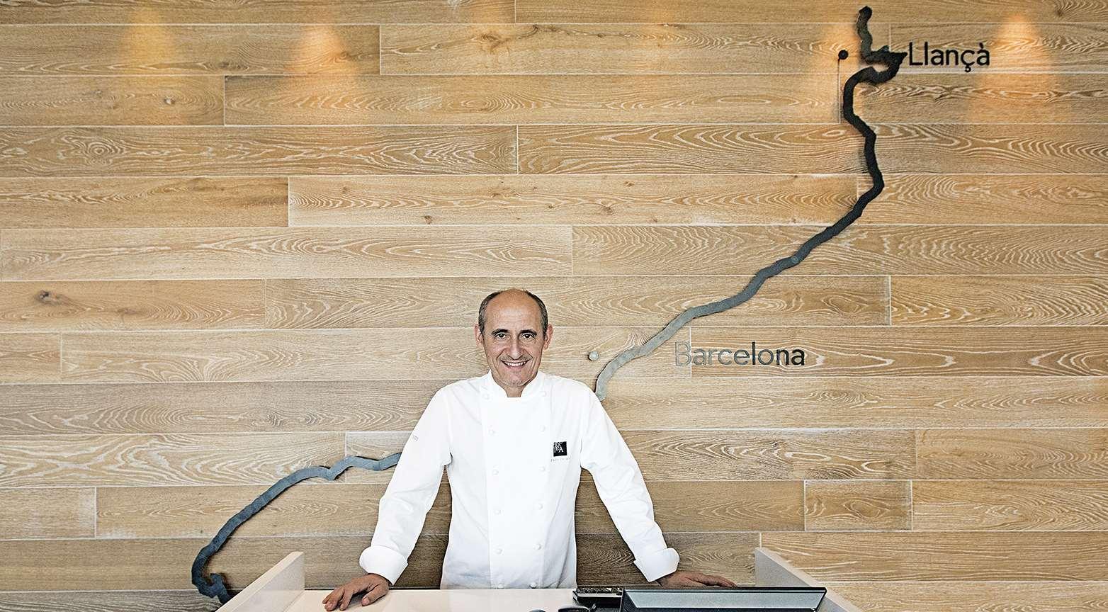 Paco Pérez en su restaurante Enoteca en Barcelona, con dos Estrellas Michelin